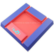 Two Tone Melamine Square Ashtray with Logo
