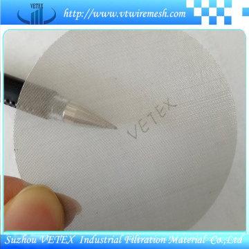 Disco de filtro circular de acero inoxidable