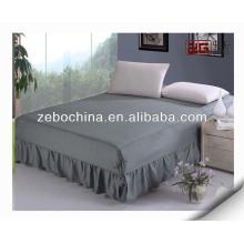 Falda de la cama del hotel del algodón de la alta calidad al por mayor