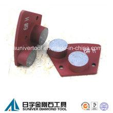 2 Round Segments Equipment Concrete Grinding Disc