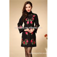 Woman jacket long style design printed women fashion coats china classic trench coat