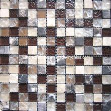 Carrelage de salle de bain en mosaïque en verre de verre (HGM309)