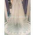 2017 spring new Korean Slim was thin word long-sleeved wedding dress lace long trailing LJ-10041