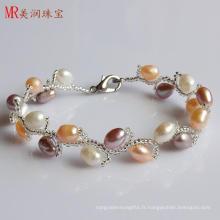 Bracelet perle d'eau douce et de mode (EB1509-1)