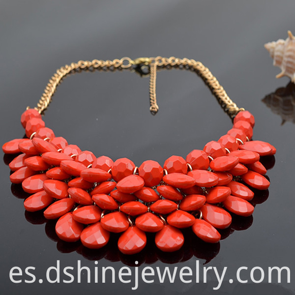 Beads Necklace With Earring Set