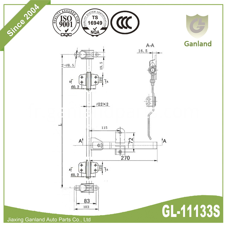 Stainless Steel Cam Door Lock GL-11133