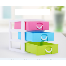 PP plastic 3 layer mini drawer desktop storage box with high quality