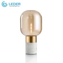 LEDER pequena lâmpada de mesa redonda