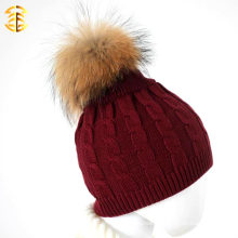 100 % Cotton Wine Red Children Baby Knitted Kids Crochet Hat