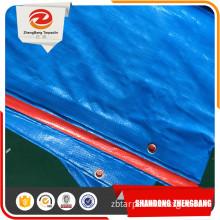 blue canvas PE tarpaulin sheet fabric