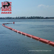 Deers pvc solid floating barries oil containment boom for oil spill response