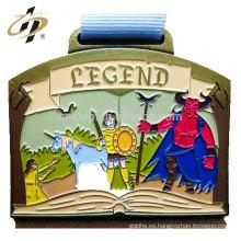 Haga su propio logotipo medallas de metal de encargo de esmalte colorido