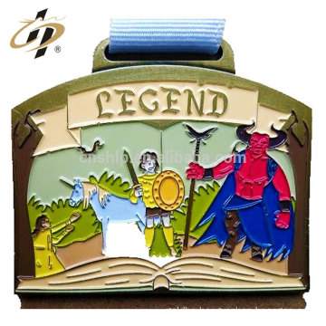 Make your own logo colourful enamel custom award metal medals