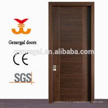 Porte en bois de norme de la CE de placage de stratifié naturel de contreplaqué de la CE