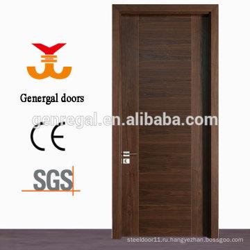 Стандарт CE натурального шпона ламинированные флеш МДФ деревянные двери
