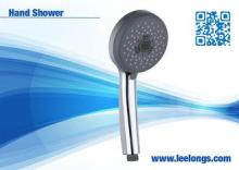 Home Basics Portable Handheld Shower Head ABS Chrome Round
