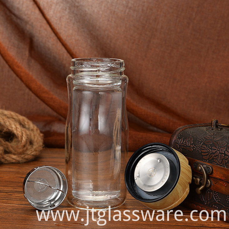 Borosilicate Glass Tea Infuser Tumbler
