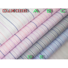 Yarn Dyed Polyester Cotton Dobby Fabric Shirting Djx006