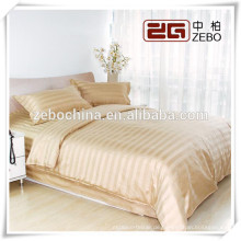Gelb 3cm Streifen Großhandel Dubai Bett Blatt Set Fabrik Preis