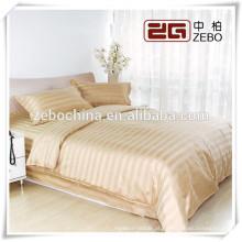 Amarelo tira de 3 centímetros Dubai conjunto de folhas de cama Preço de Fábrica