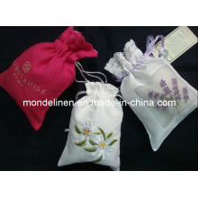 Lovely Designed Linen Gift Bags with Lavender Filling (LB-016)