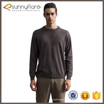 Finos diseños de suéter de cachemira pura calidad fina para los hombres