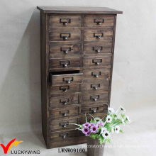 Retro Brown French Country Multi Drawer Wooden Cabinet