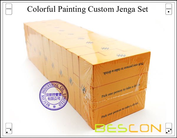 Colorful Painting Custom Jenga Set-2