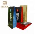 A válvula impressa feita sob encomenda do café da parte inferior do bloco do quadrado de papel de embalagem do empacotamento de alimento ensaca malotes