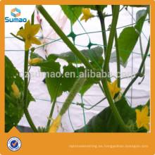8g negro Reciclar redes de hdpe, Red de soporte de planta Hdpe sin nudos para tomate, Red de pepino contra agricultura UV