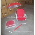 Silla de playa plegable con el paraguas, silla al aire libre jardín césped portátil