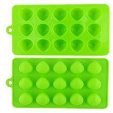 Green Brown Jelly Ice Cube Chocolate Candy Non-stick Tray
