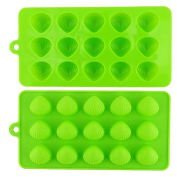 Green Brown Jelly Ice Cube Candy Chocolate Non-stick Dulang