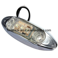DOT Chrome Base LED Side Marker Light for Trailer