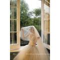 2020 de moda de alta calidad de encaje de velo de novia largo liso