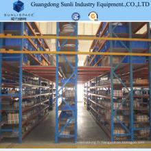 Plancher de mezzanine de structure métallique de stockage d'entrepôt avec le support d'étagère