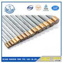 7 / 4.0mm Hilo de alambre de acero galvanizado para cable de fibra óptica / núcleo de acero