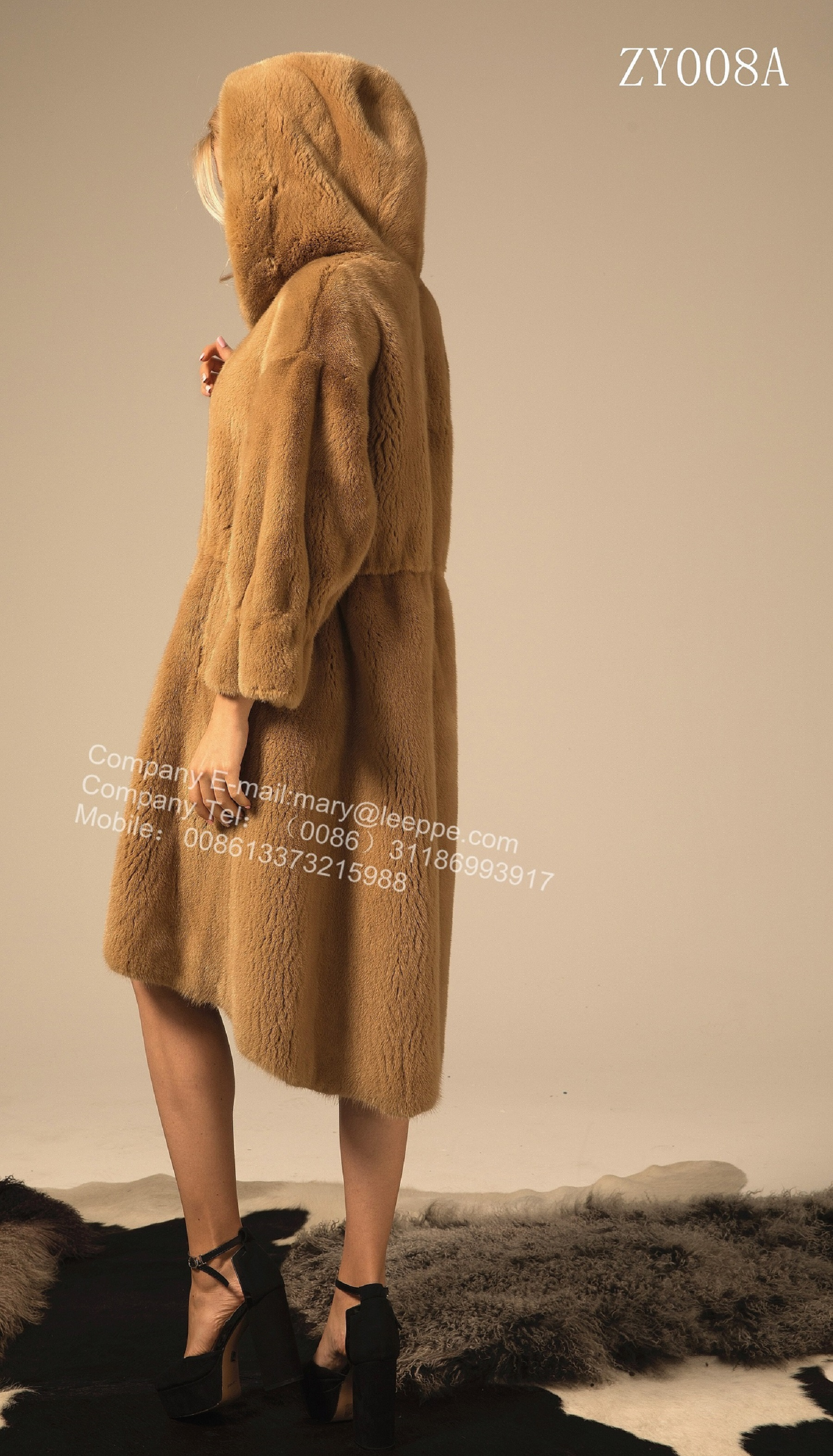 Reversible Hooded Mink Fur