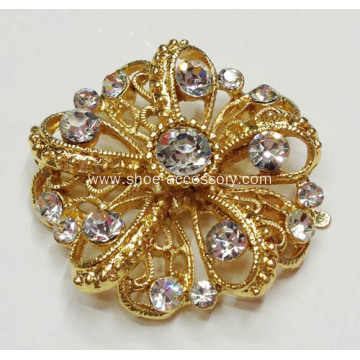Flower Shapes Women's Rhinestone Shoe Clips