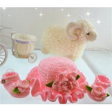 Handmade Crochet bonito para sapatas de bebê