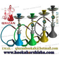 One Hose Large Hookah With Solid Color Vase