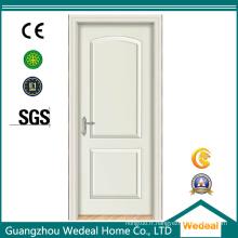 Porte intérieure apprêtée en bois et panneau de rail avec serrure de porte