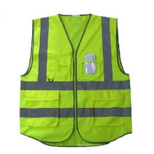 5 Pockets High Visibility Safety Vest with Reflective Strips