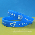 Embossed with color printing wristbands and raised color printed bracelets