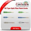 Cordons optiques de correction de fibre optique de type Sc de haute qualité