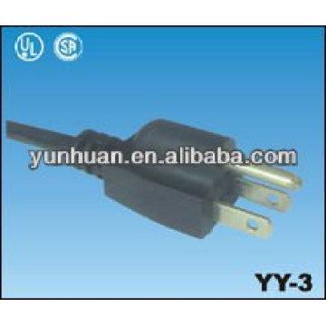 Cable de alimentación equipado con nosotros enchufe americano USA