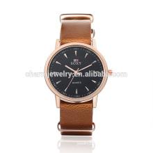 Montre bracelet en cuir quartz de mode de la mode la plus récente SOXY007