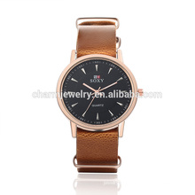Latest Fashion High Quality Quartz Leather Wrist Watch SOXY007