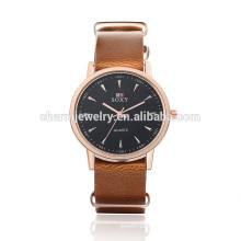 Последние моды высокого качества кварцевые наручные часы кожи SOXY007