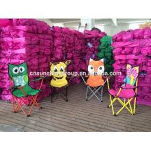 Folding Animals Kids Children Chair Camping with Cartoon Design